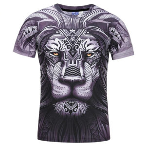 Fashion 3D Lion Printed T-Shirts