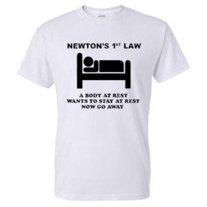 Men's T-Shirt with Newton's 1st Law Print