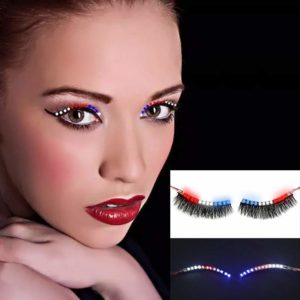 LED Luminous Eyelash Light Up False Eye Lash Icon Party Club Bar Eyelashes Beauty